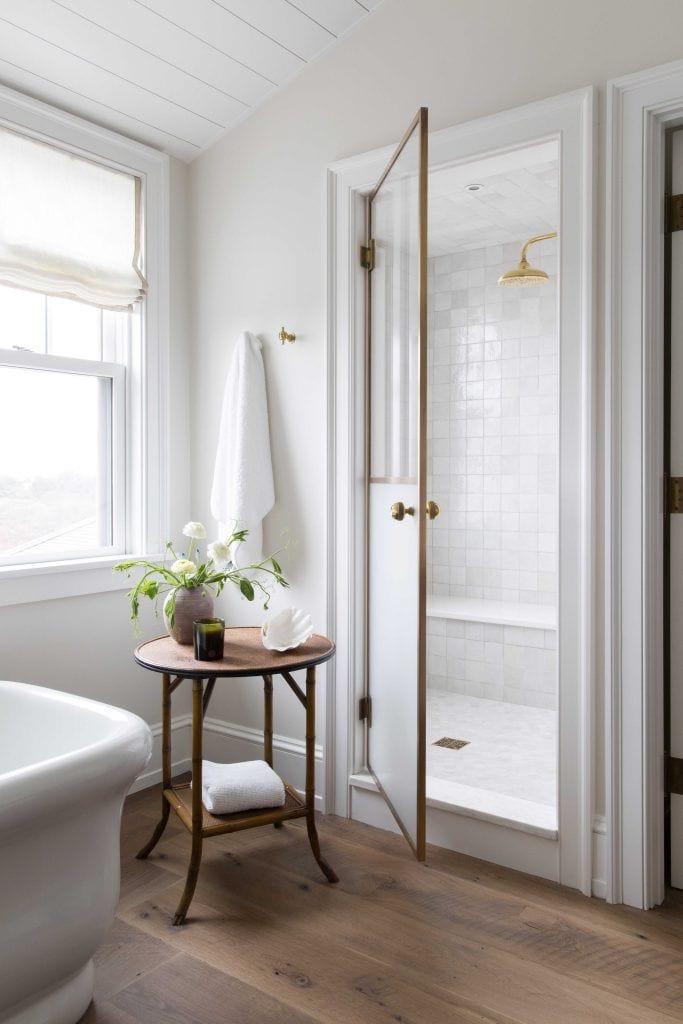 bathroom shower room with door