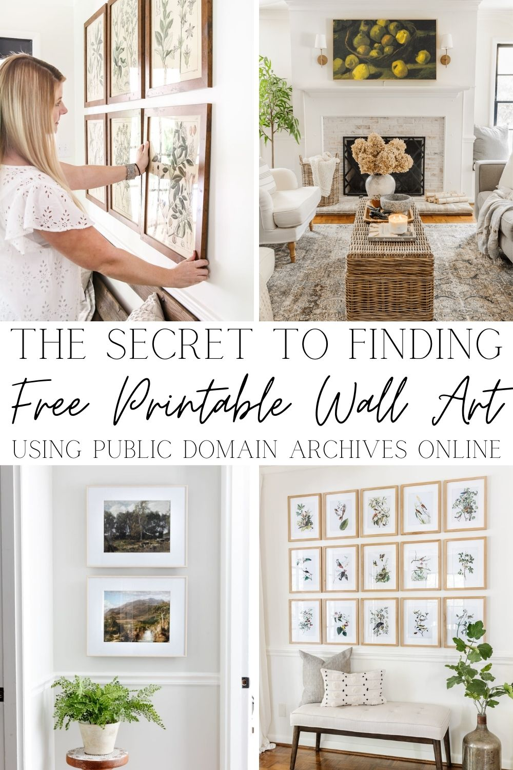 The Secret to Finding Free Printable Wall Art Using Public Domain Archives Online