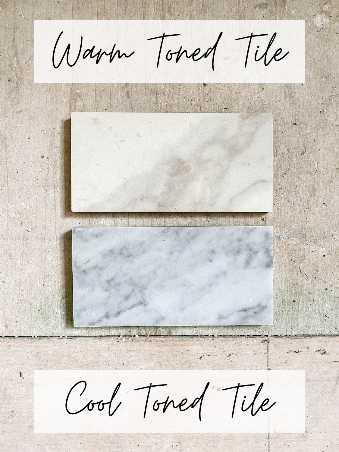 comparing warm-toned marble tile with cool-toned marble tile and which is best for a bathroom