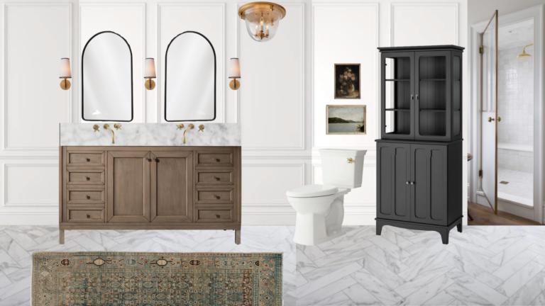 Our Classic Bathroom Design Plan!