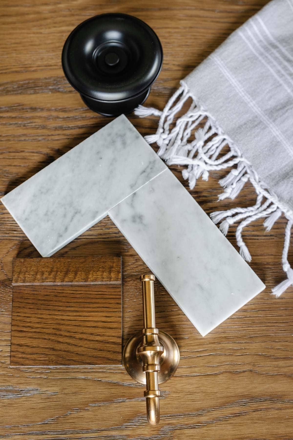 marble tile bathroom mood board