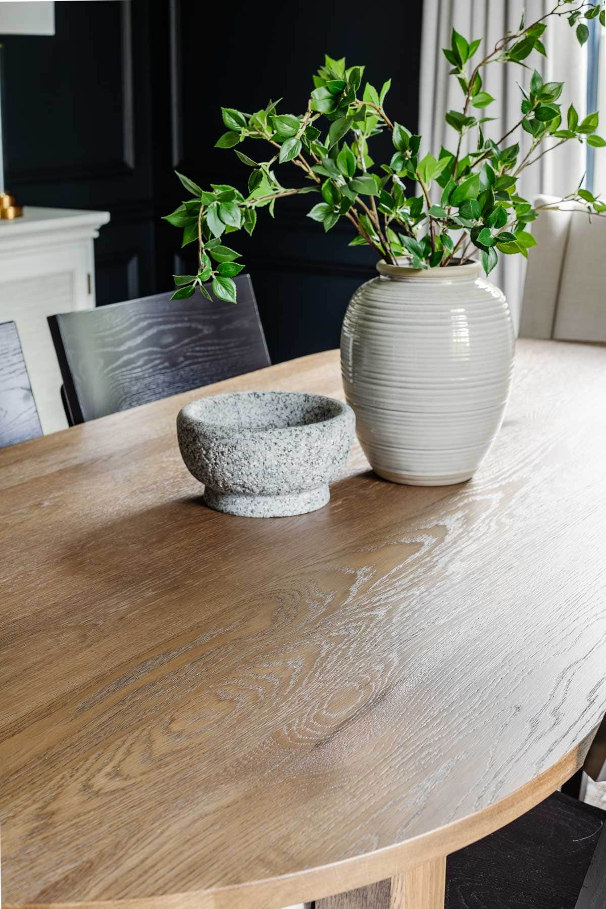 wood midcentury modern oval dining table