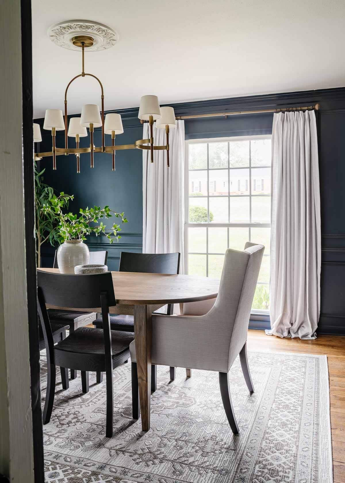classic modern dining room with mid century modern dining table
