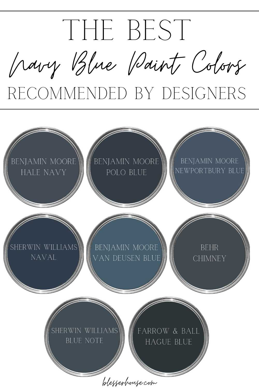 The best navy blue paint recommended by designers