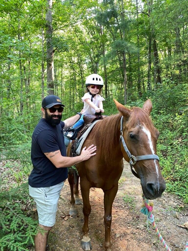 Cedar Creek Stables pony ride in Lake Lure