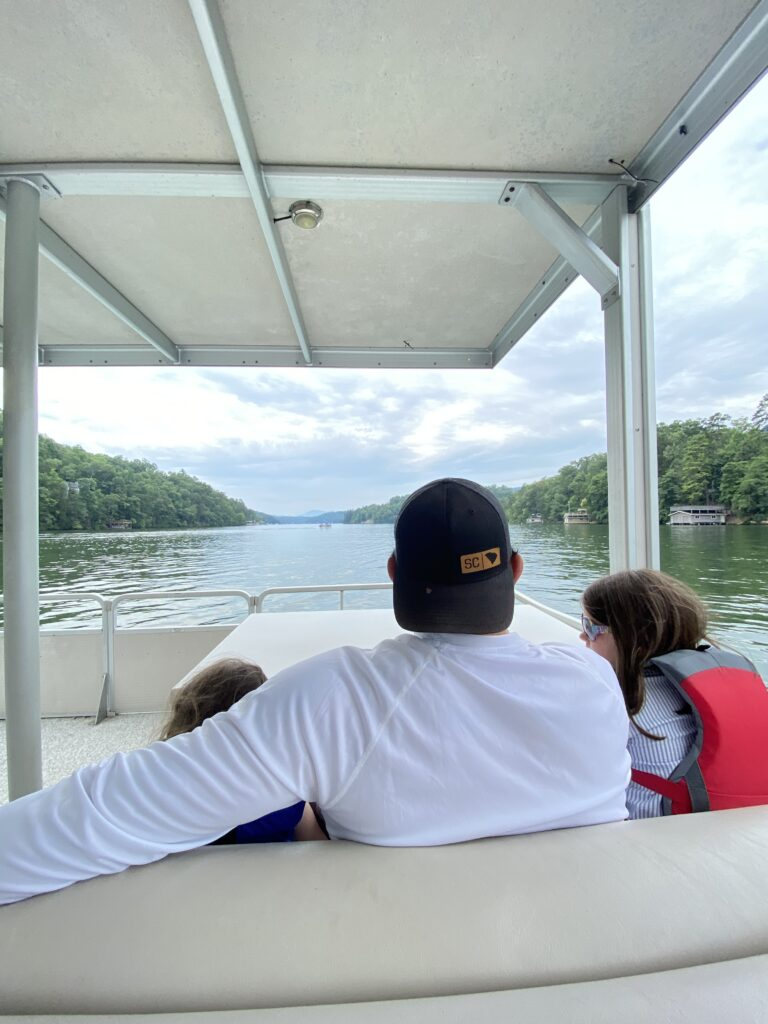 Scenic boat tour on Lake Lure