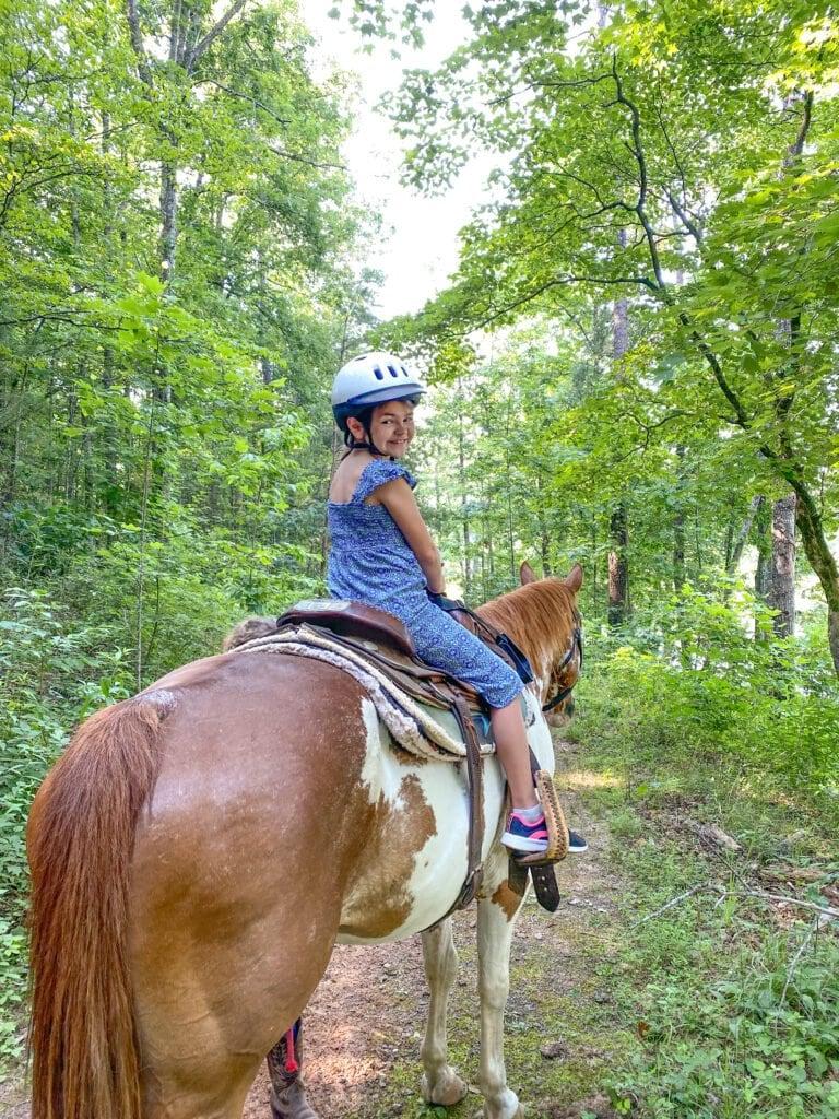 Cedar Creek Stables horseback riding in Lake Lure
