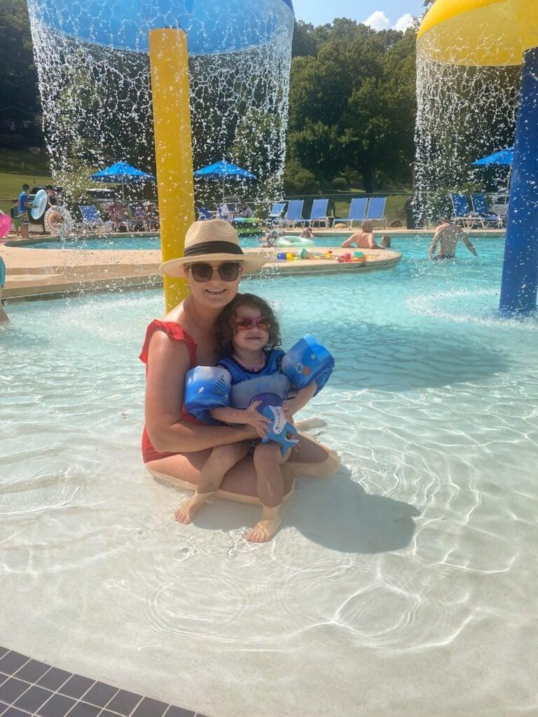 swimming pool at Rumbling Bald Resort