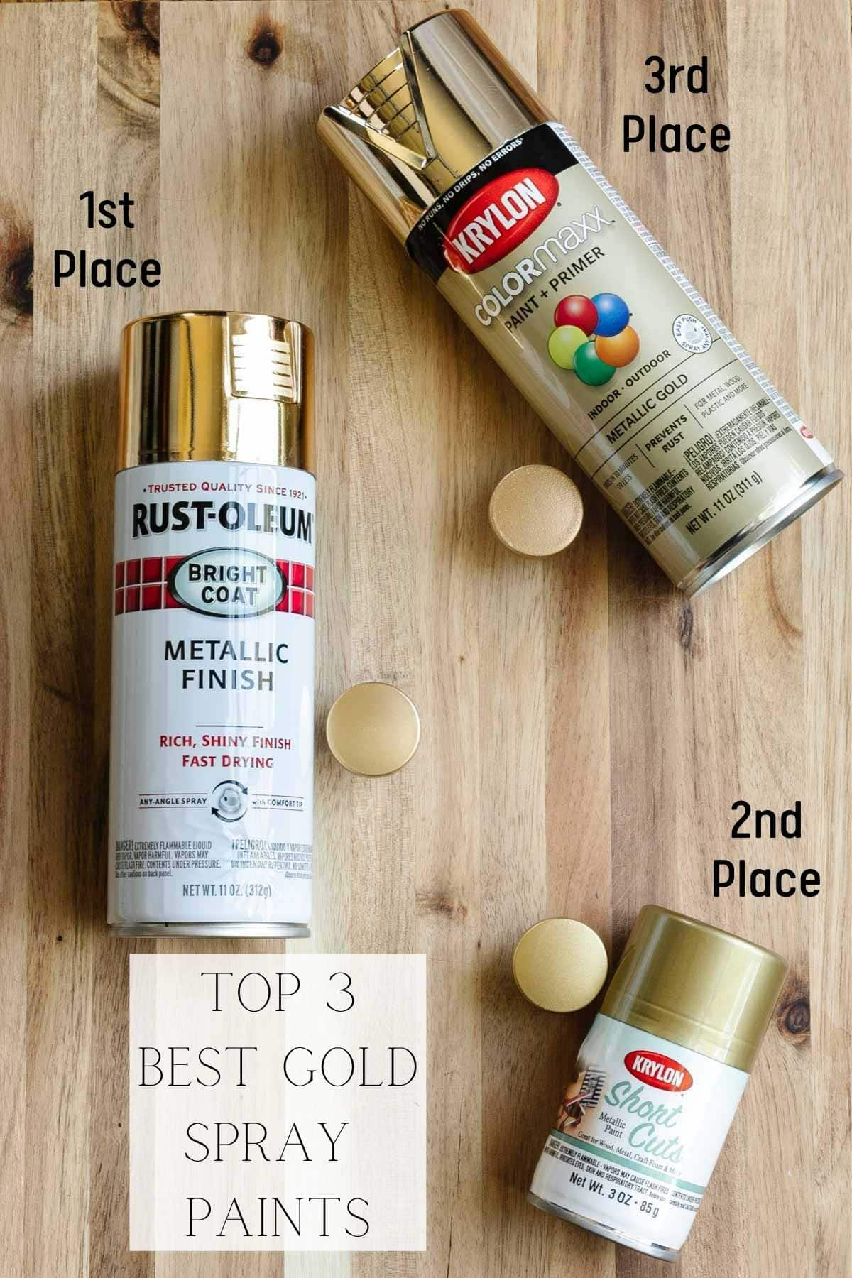 top 3 best gold spray paints