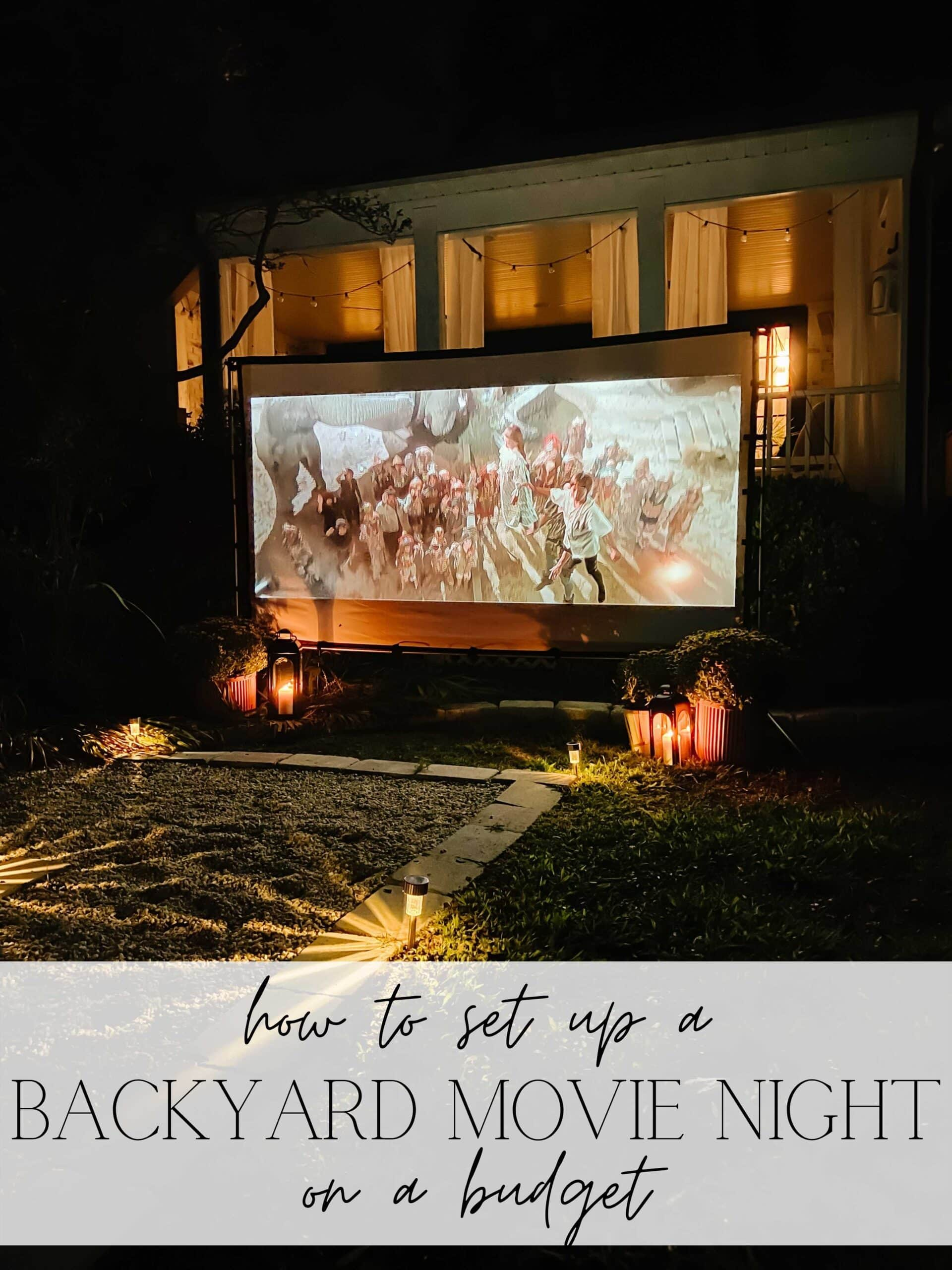 The best outdoor projector screen, movie projector, and streaming device to set up a backyard movie night for less than $400.