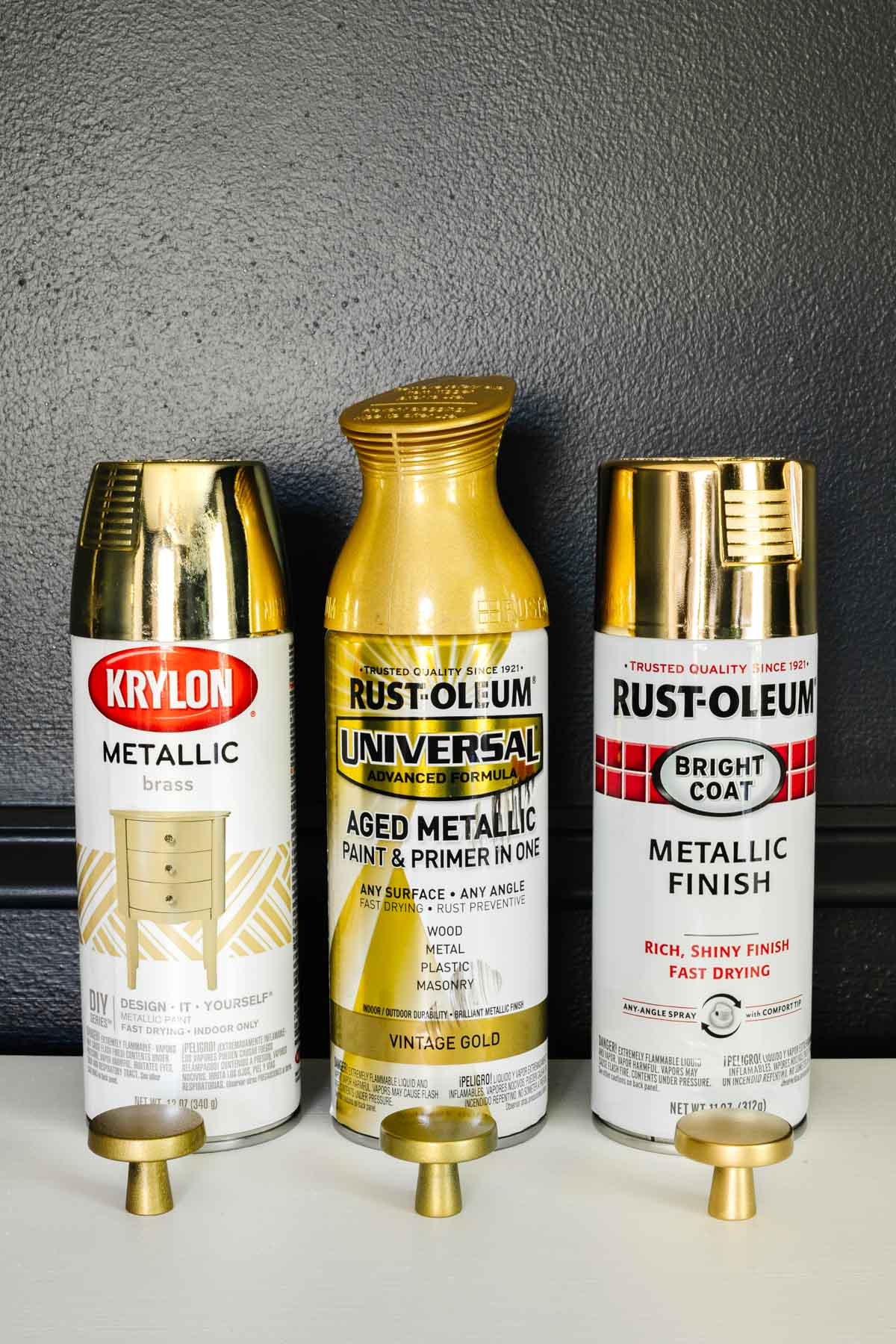 gold spray paint types ranked for performance