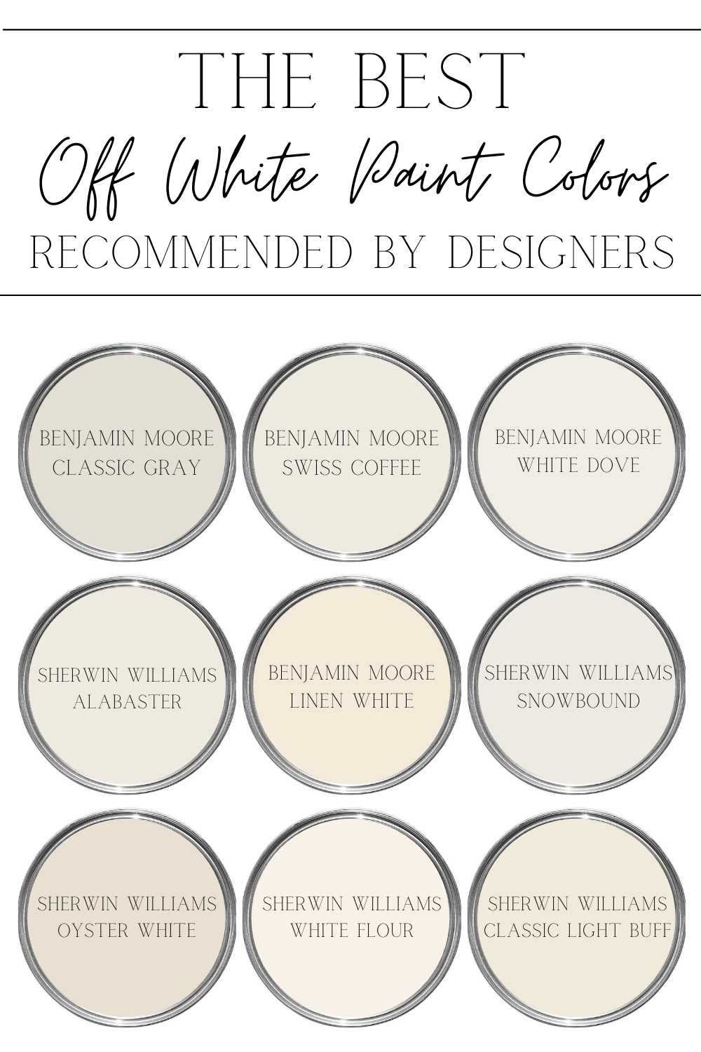 the best off white color paint recommended by designers
