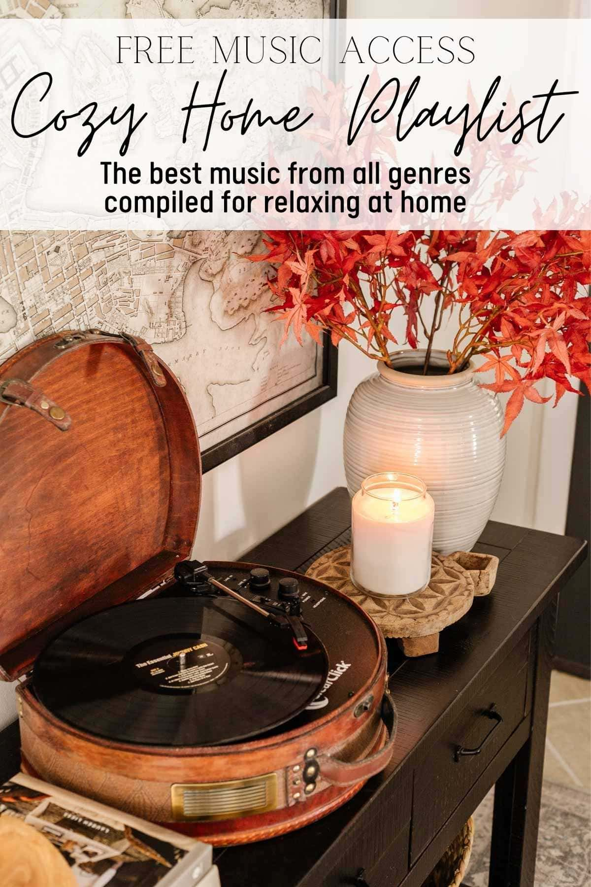 Free music access to the cozy home playlist with the best relaxing music from all genres compiled for chilling at home
