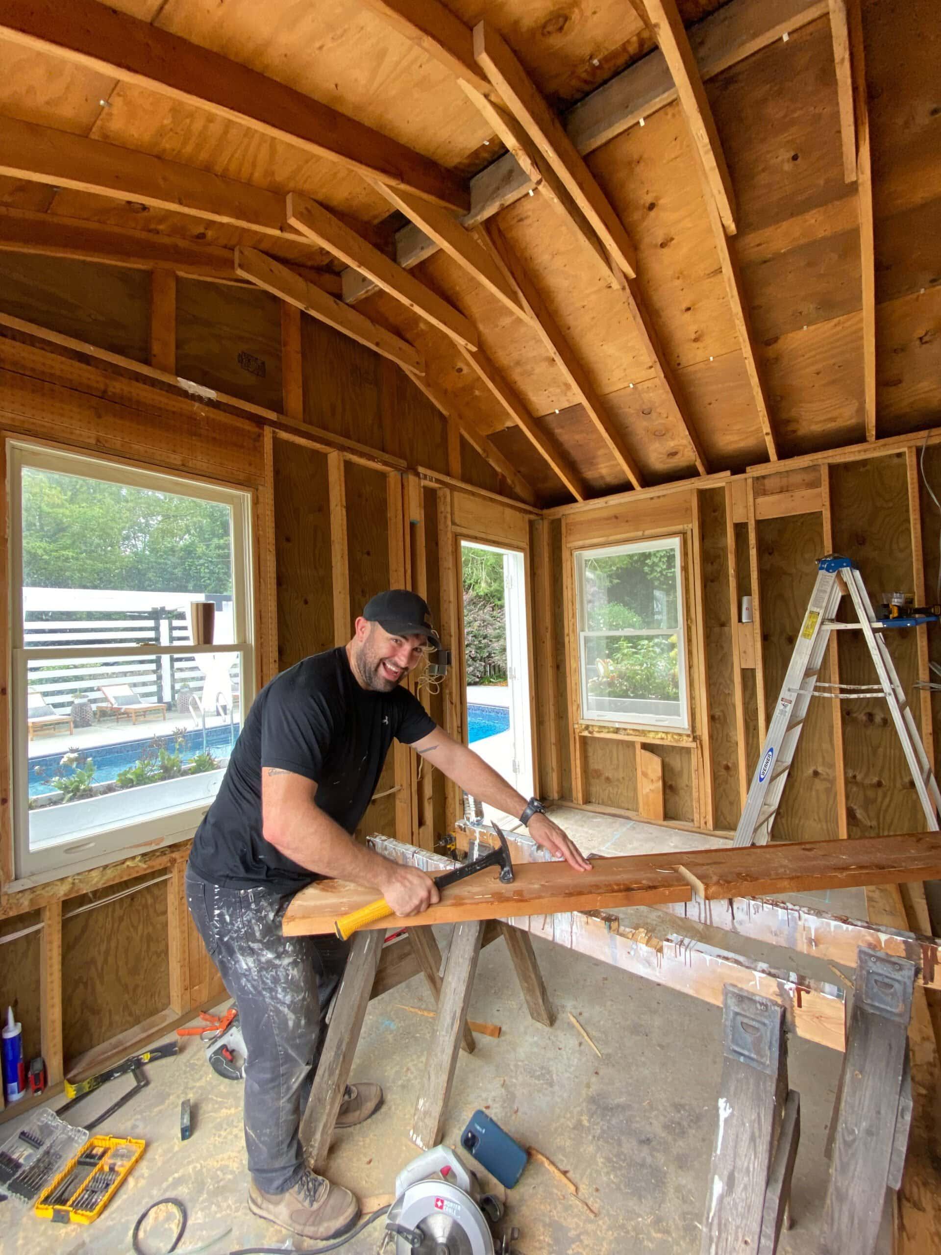 home gym shed demo