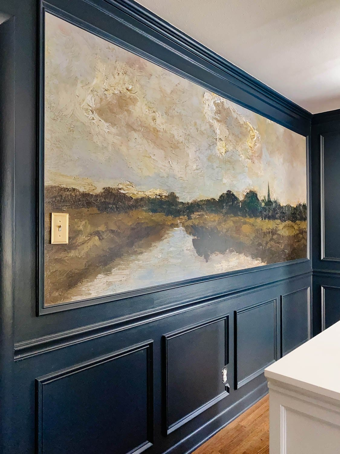 Antique Painting Mural Wallpaper in the Dining Room!
