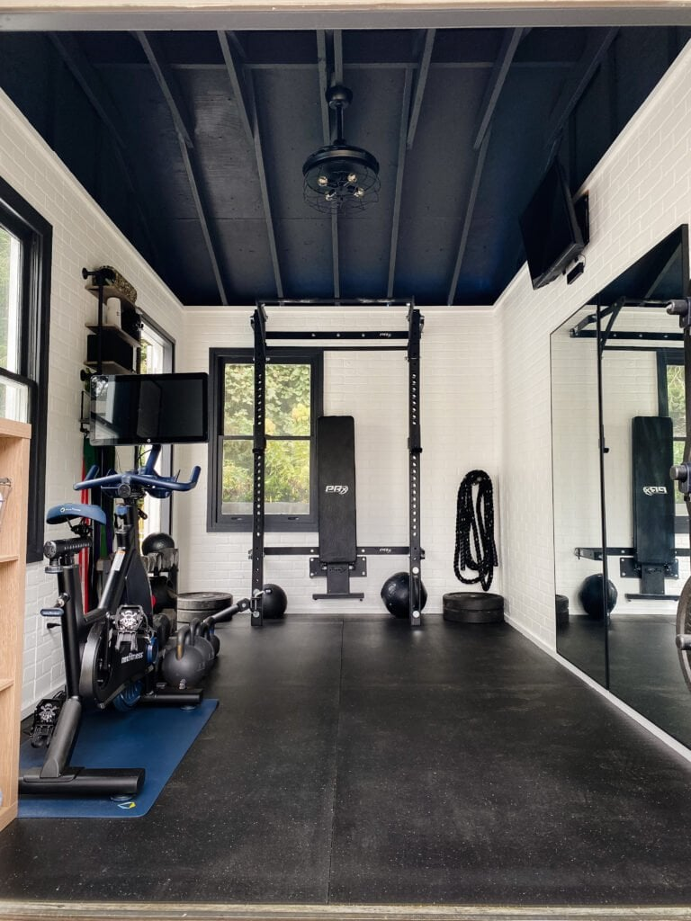 At Home Gym Shed Makeover on a Budget!