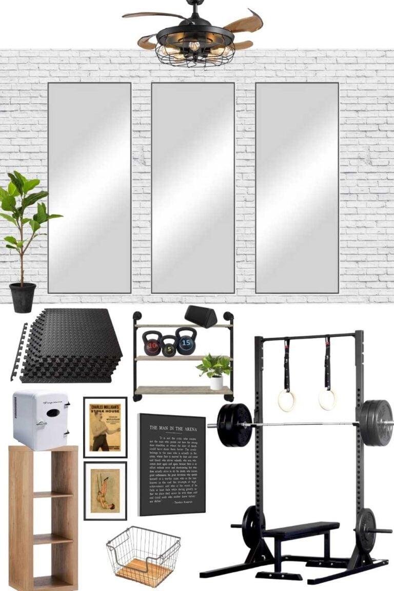 Home Gym Design Mood Board & Workout Shed Progress