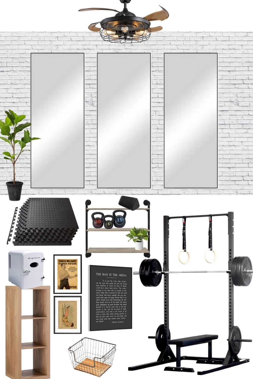 home gym design mood board