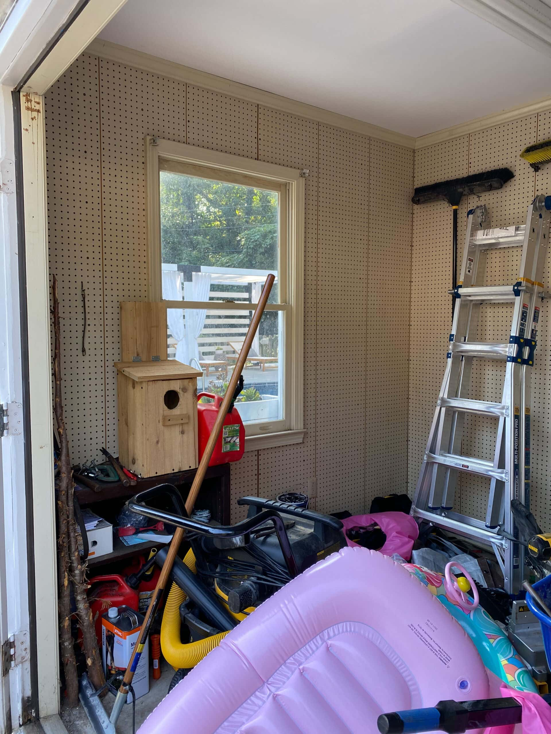 pool shed before